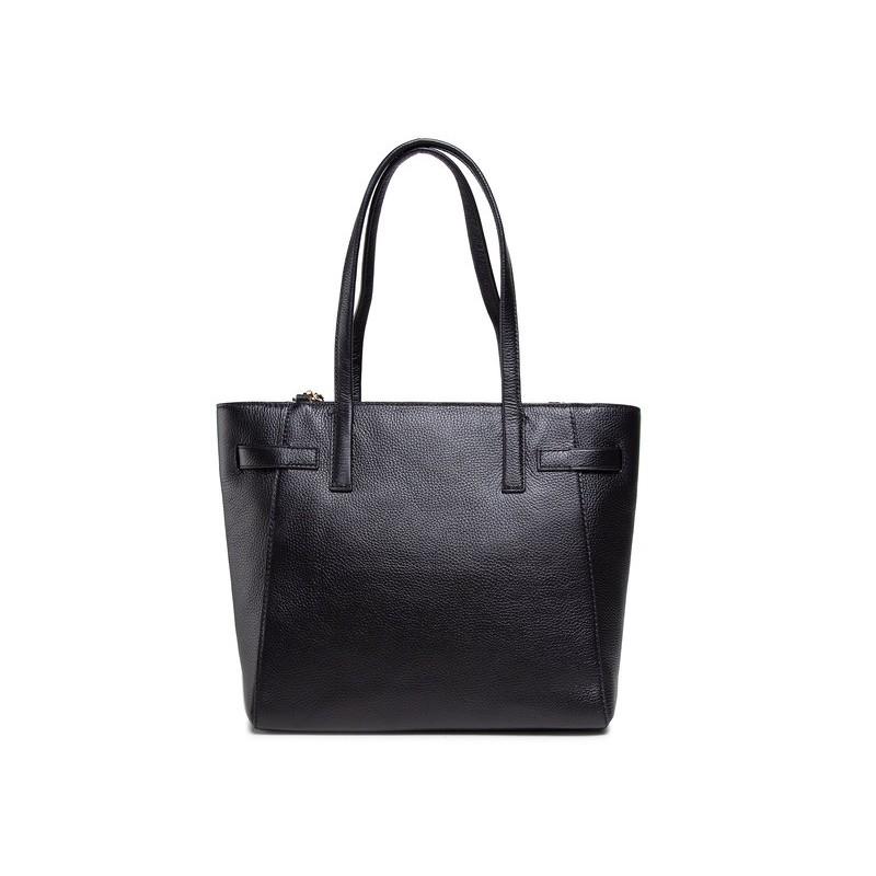 MICHAEL BY MICHAEL KORS - CARMEN Leather Shopping Bag - Black