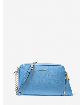 MICHAEL by MICHAEL KORS - GINNY Leather Shoulder  Bag -South Pacific