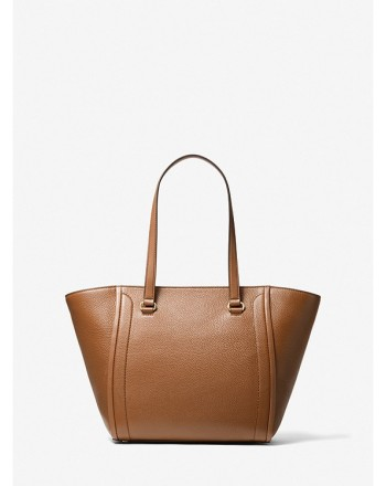 MICHAEL by MICHAEL KORS -  CARINA Leather Tote Bag  - Luggage
