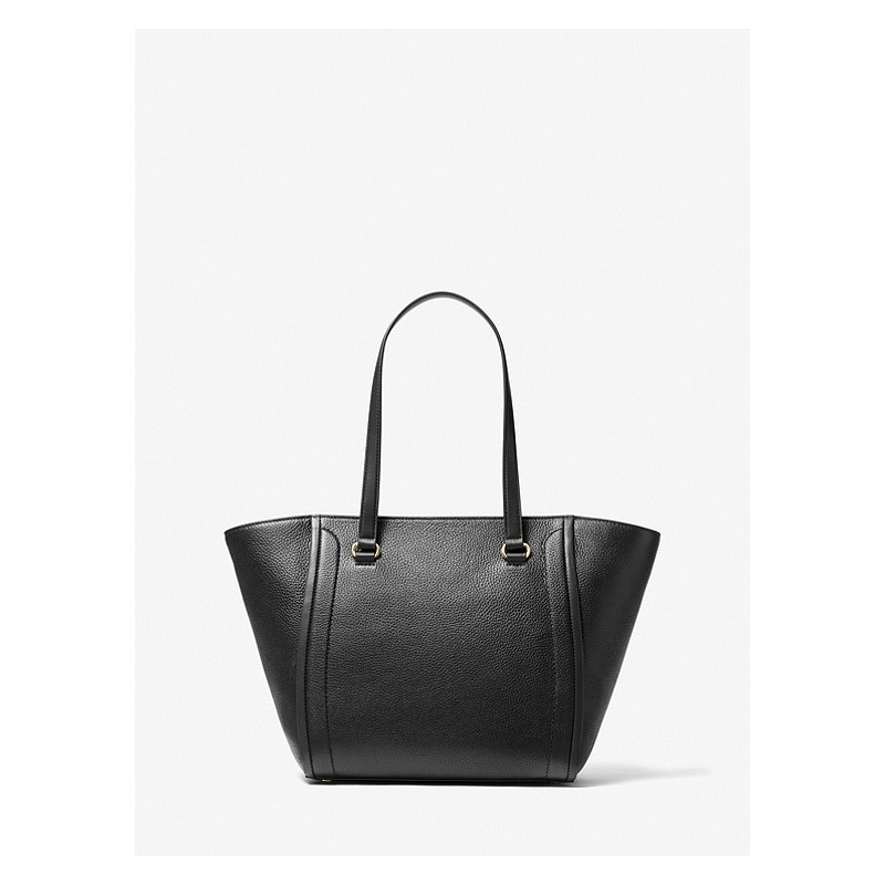 MICHAEL by MICHAEL KORS -  CARINA Leather Tote Bag  -Black