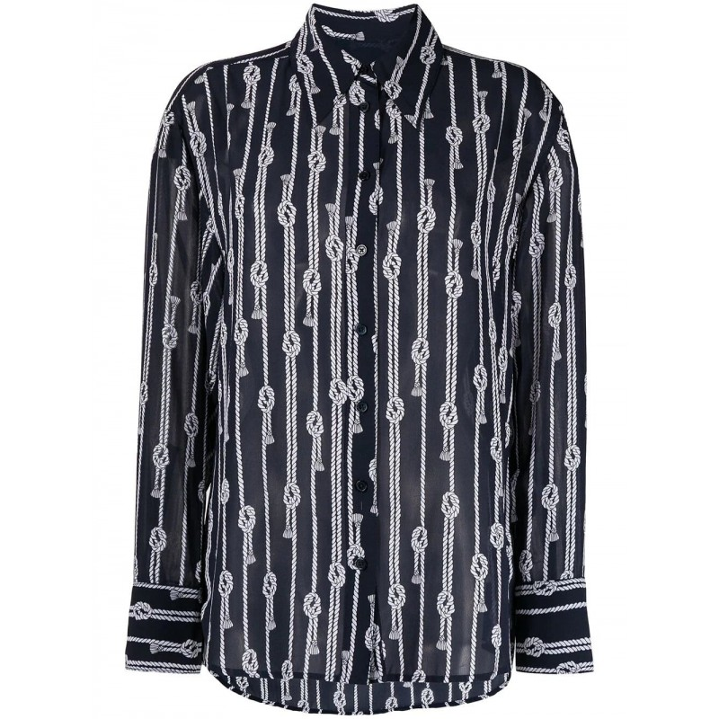 MICHAEL by MICHAEL KORS - Abito Camicia  - Midnight/Bianco