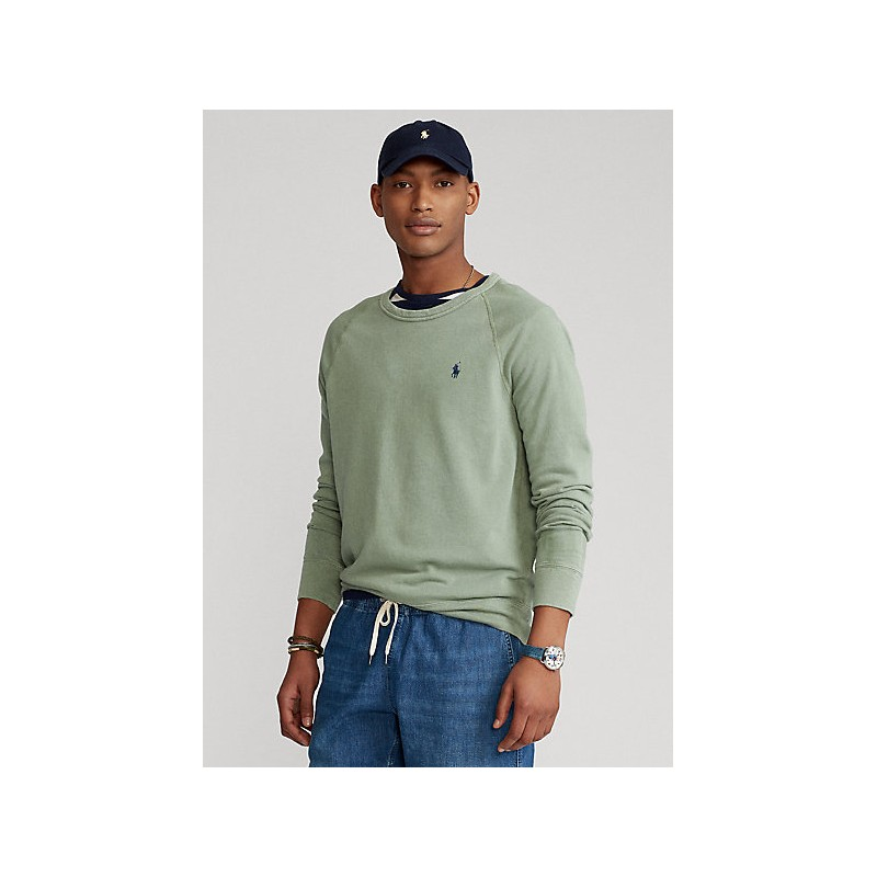 POLO RALPH LAUREN  - Crewneck Sweatshirt - Military