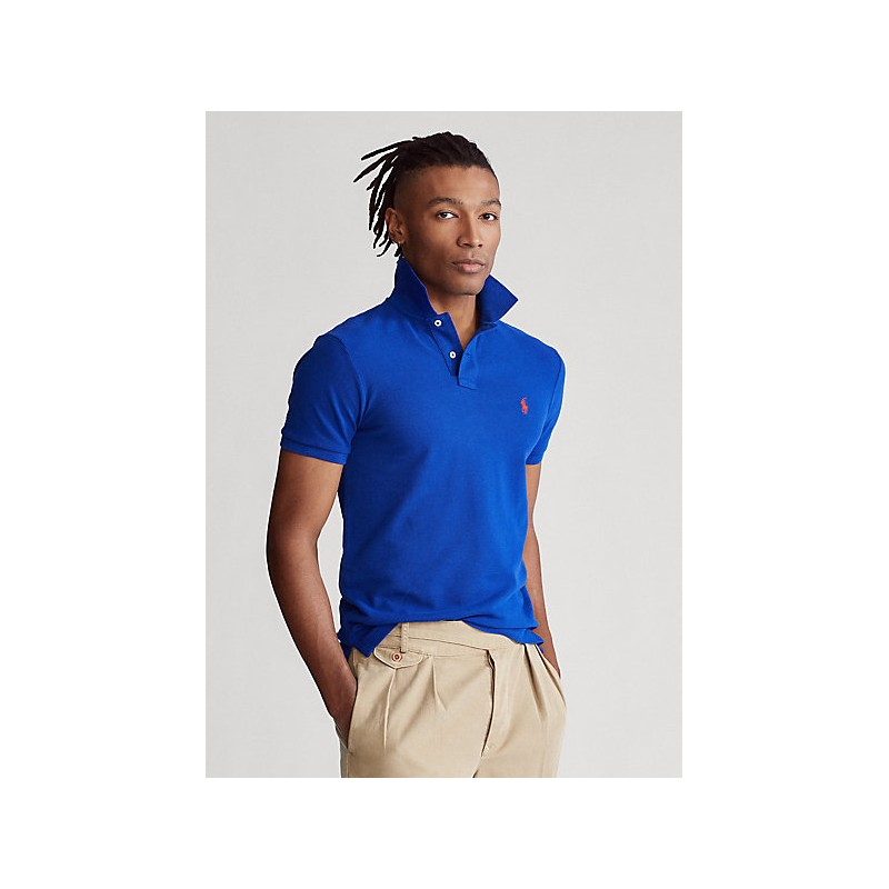 POLO RALPH LAUREN  -  Polo in Pique' Slim-Fit - Royal  -