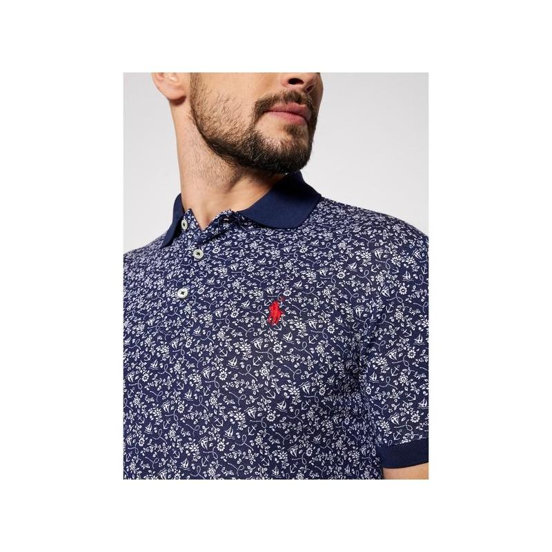 POLO RALPH LAUREN  - Fantasy Polo Shirt - French Navy --