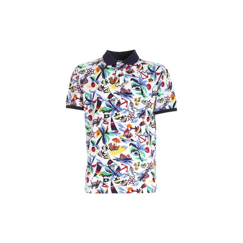 POLO RALPH LAUREN  - Fantasy Polo Shirt - Multicolor -