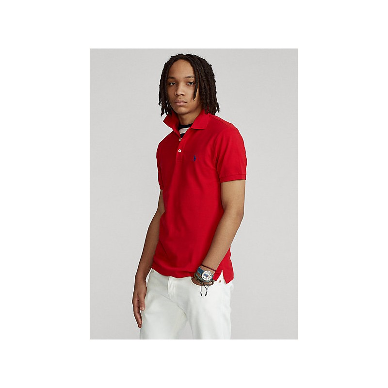 POLO RALPH LAUREN  -  Polo in Pique' Slim-Fit - Rosso -
