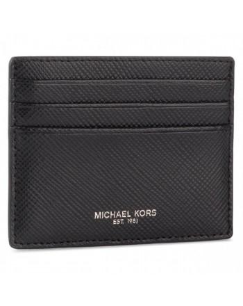 MICHAEL BY MICHAEL KORS - HARRISON Leather Credit Card Holder - Black