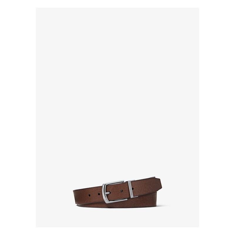 MICHAEL BY MICHAEL KORS - Leather Belt - Moka/Black