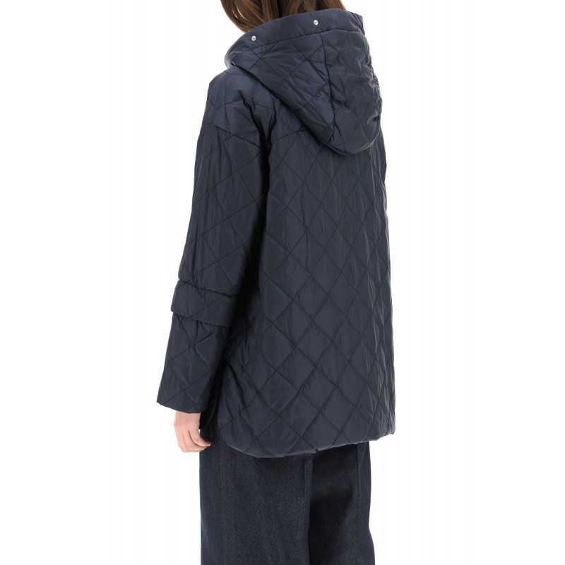 MAX MARA THE CUBE - ENOVER Rainproof Down Jacket -Dark Blue