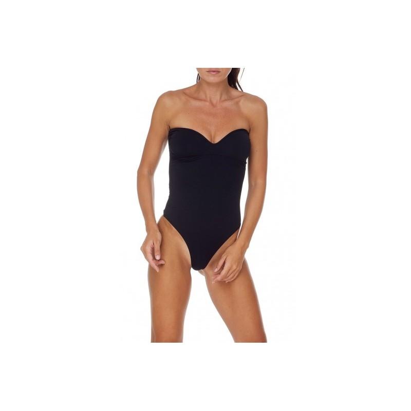 ME FUI- Heart  Shaped Monokini - Black