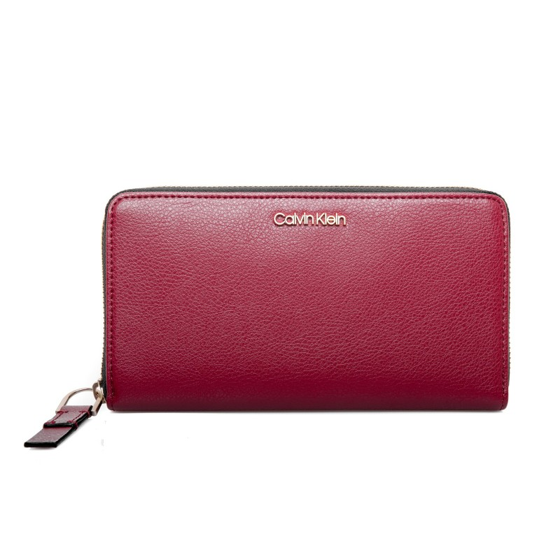 CALVIN KLEIN - Leather Wallet - Red Rock