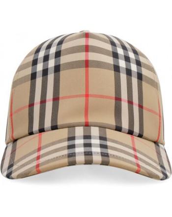 BURBERRY - Check baseball hat - beige