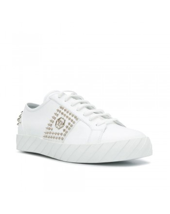 PHILIPP PLEIN - Sneakers  con Borchie -Bianco
