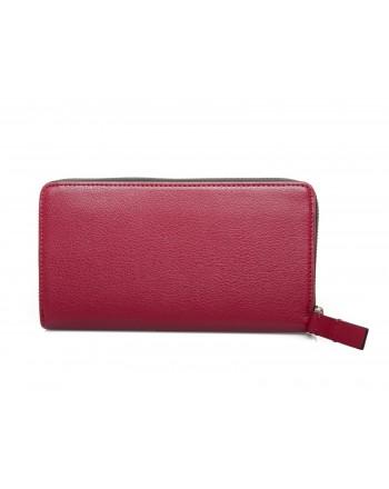 CALVIN KLEIN - Leather Wallet - Red Rock