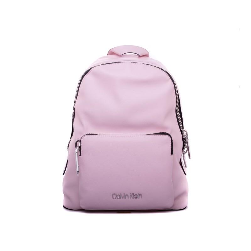 CALVIN KLEIN - Front Pocket Zipper Backpack - Rose Petal