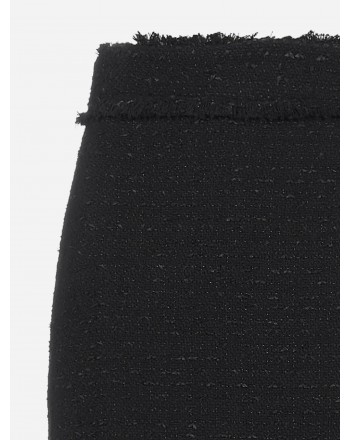 PINKO - LIRICO TWEED MINI SKIRT - BLACK