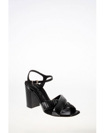 GUGLIELMO ROTTA - Leather Straps Sandal - Black