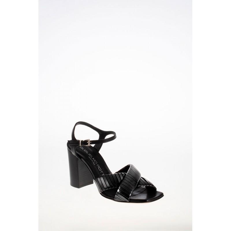 GUGLIELMO ROTTA - Sandalo con  Fasce in Pelle- Nero