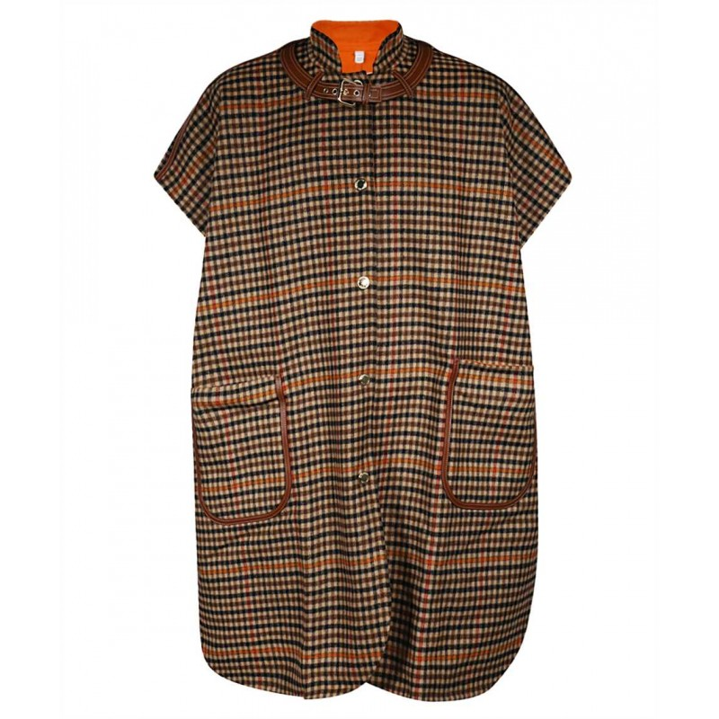 BURBERRY - Double-Faced cape - Orange -