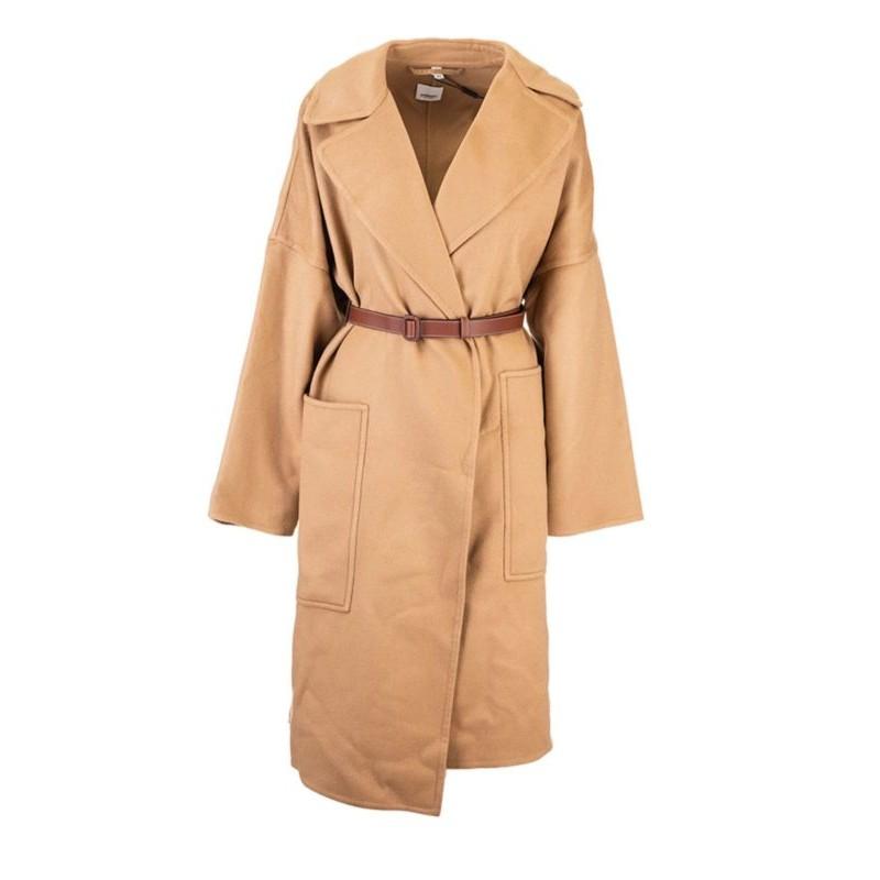 BURBERRY - Cappotto  a vestaglia - Beige -