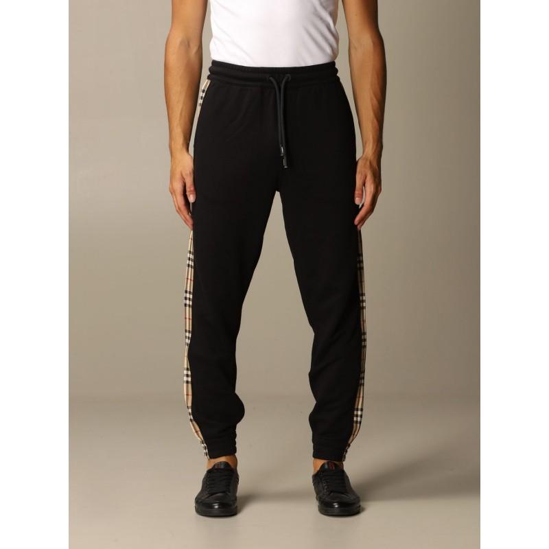 BURBERRY - Pantalone Checkford Check - Nero -
