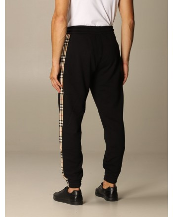 BURBERRY - Checkford Check Trousers -Black -