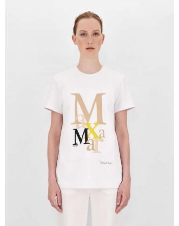 MAX MARA - HUMOUR T-Shirt - White/Camel/Yellow