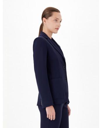 MAX MARA STUDIO - SANTINA Viscose Jersey Blazer - Blue