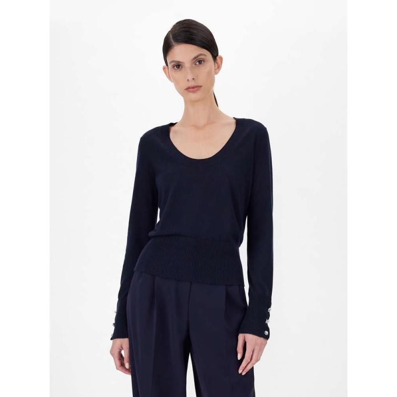 MAX MARA STUDIO - ZEUS  Silk Yarn Knit- Blue