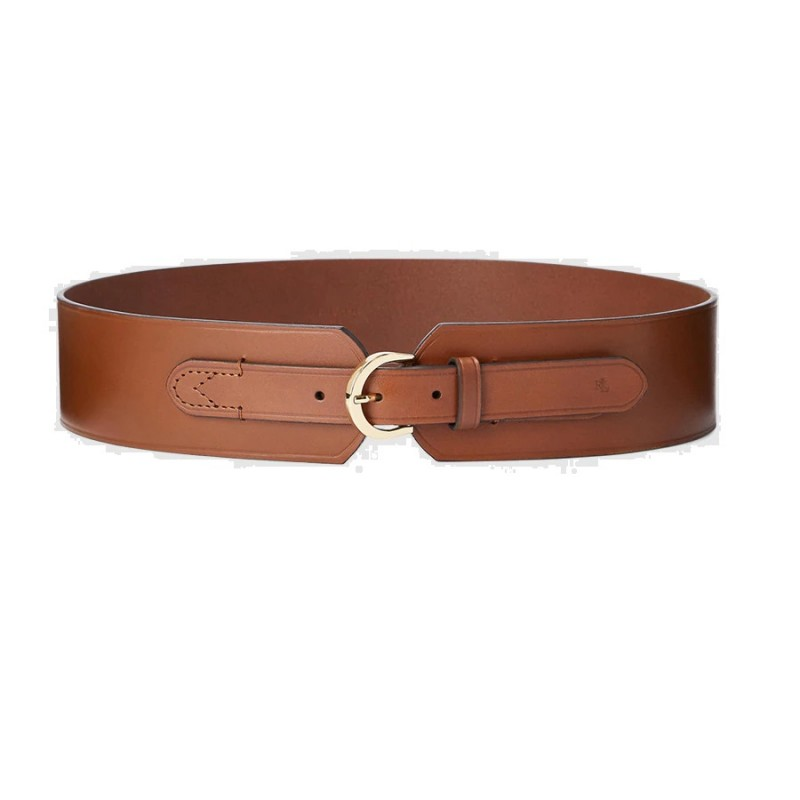 POLO RALPH LAUREN  -  Cintura Alta Cuoio -
