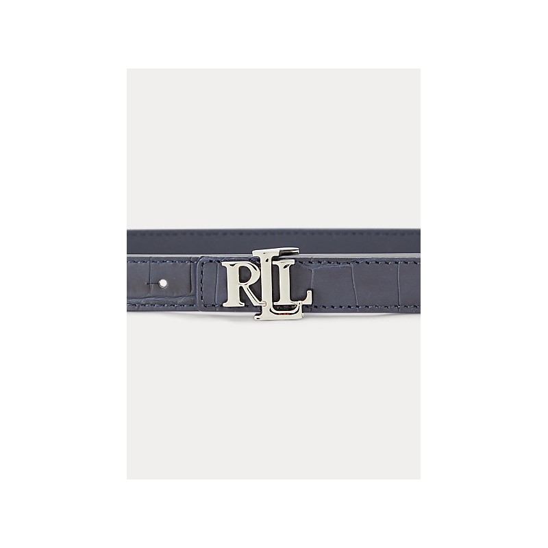 POLO RALPH LAUREN  -  Cintura Reversibile 2 Cm - Blu -