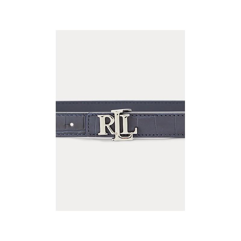 POLO RALPH LAUREN  - Reversible Belt  2 Cm - Blue -