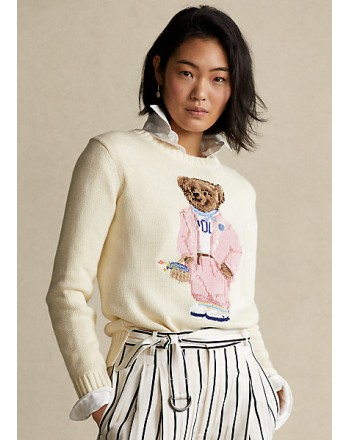 POLO RALPH LAUREN  - Cotton Bears Sweater - Ivory -