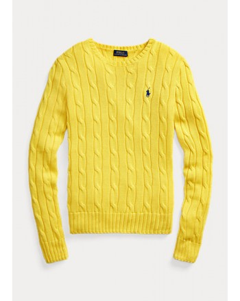POLO RALPH LAUREN  -Cotton Slim Fit Sweater-  Yellow -