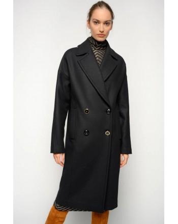 PINKO - ERAGON Doublebreasted Coat - Black