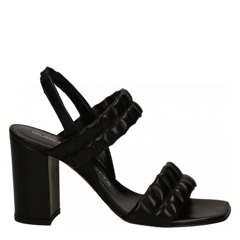 GUGLIELMO ROTTA - Leather Double Straps Sandal - Black