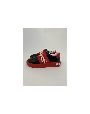 LOVE MOSCHINO - Slip- on  Sneakers  - Black/Red