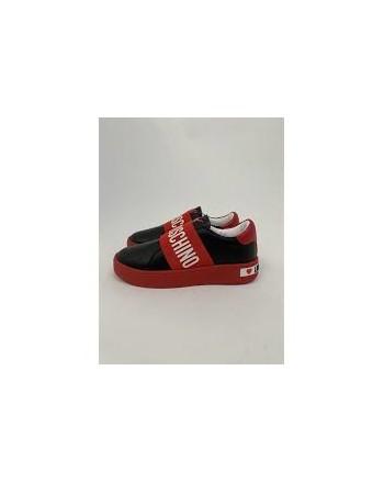 LOVE MOSCHINO - Sneakers con slip-on - Nero/Rosso