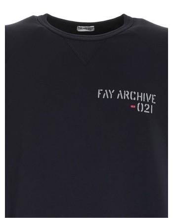 FAY - Felpa Archive -Blu Navy