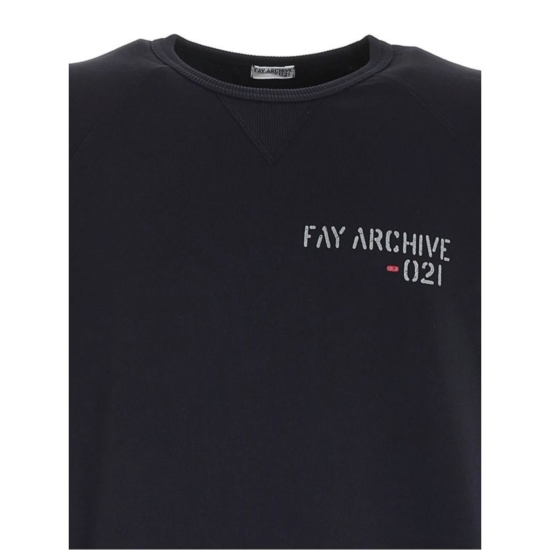 FAY - Archive Sweatshirt - Navy Blue