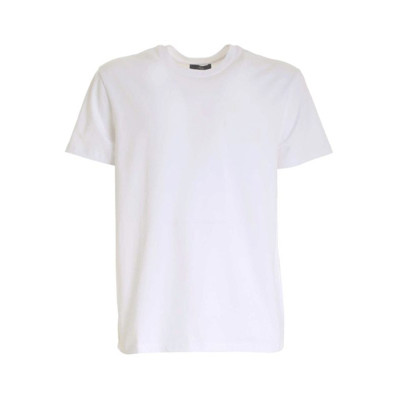 FAY - T-Shirt Stampa Fay sul Petto - Bianco -