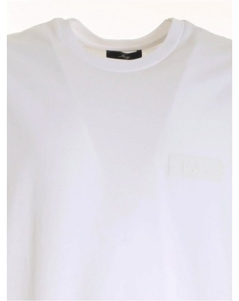 FAY - Fay Print T-Shirt on the Chest - White -