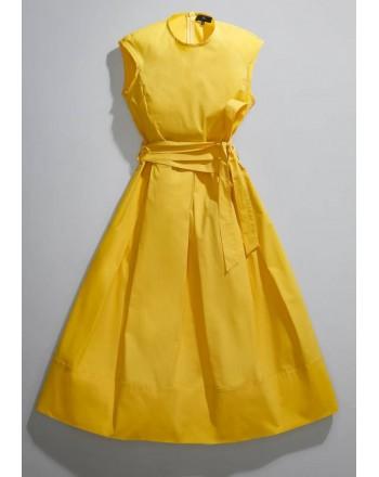 FAY - Dress with Belt - Lemon