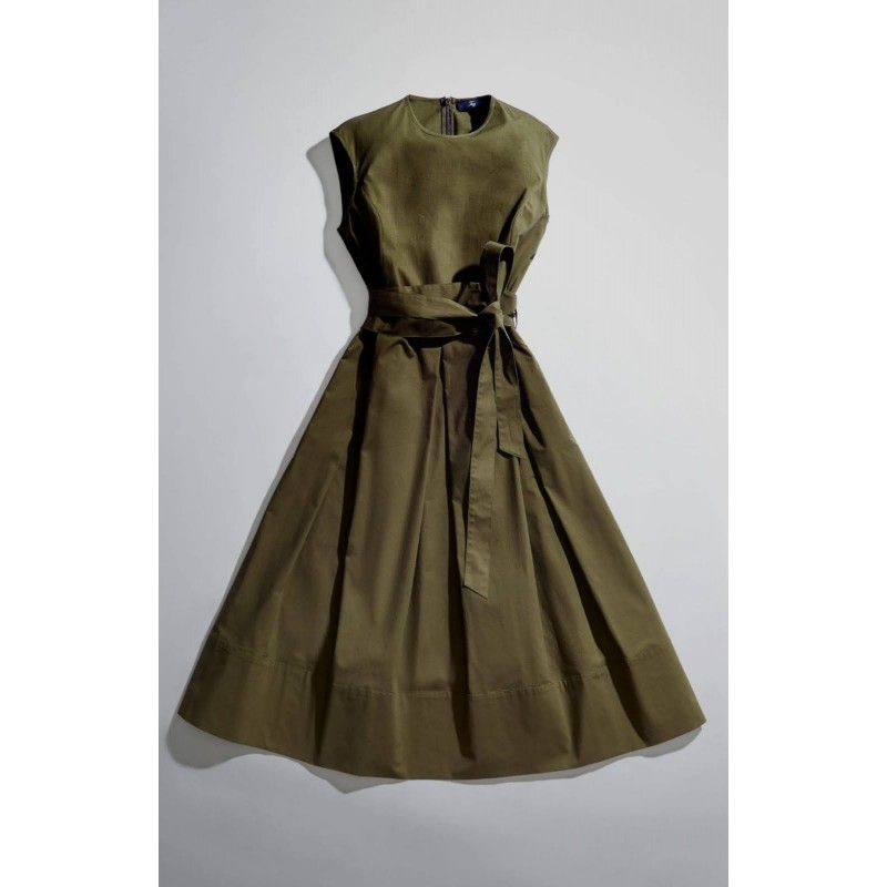 FAY - Dress with Olive Belt