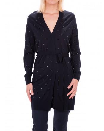 MAX MARA - New Wool FRIDA long cardigan - Dark blue