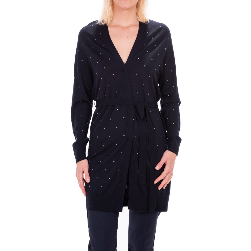 MAX MARA - New Wool FRIDA long cardigan - Dark blue