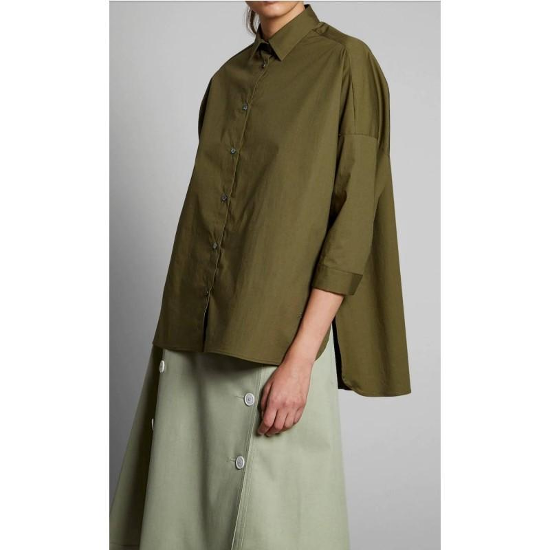 FAY - Over Shirt - Dark olive