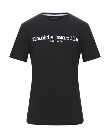 FRANKIE MORELLO - Basic T-Shirt - BLACK
