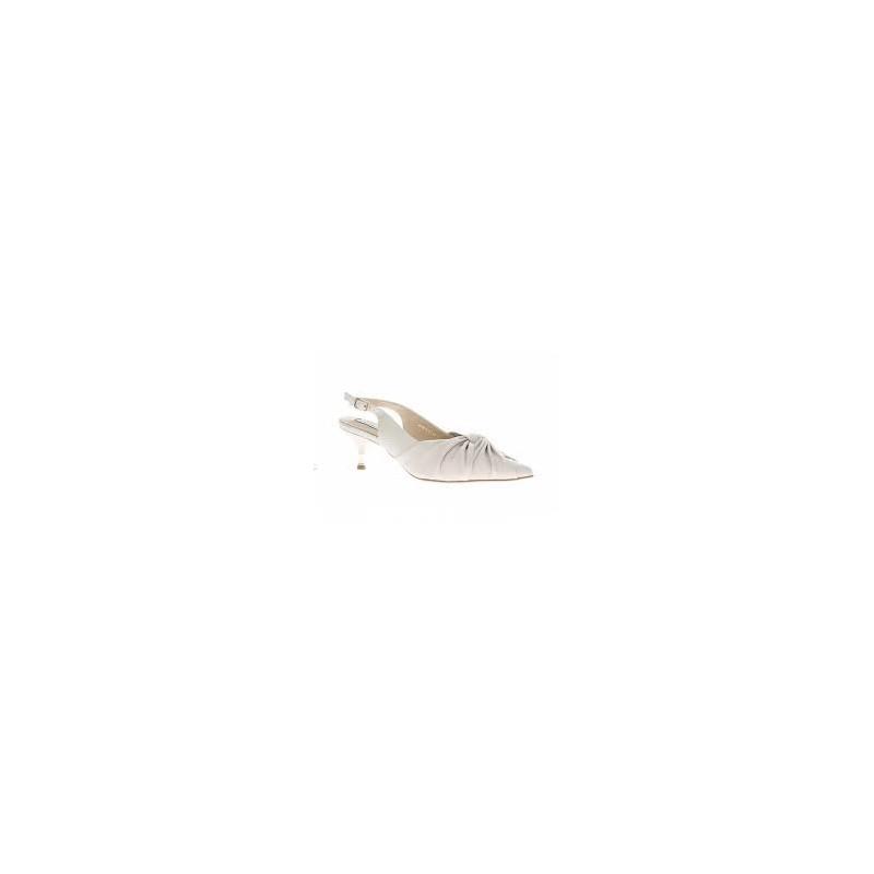 EMANUELLE VEE - Knot Slingback - White