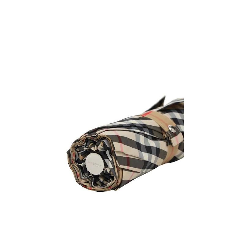 BURBERRY - Ombrello pieghevole check - Beige